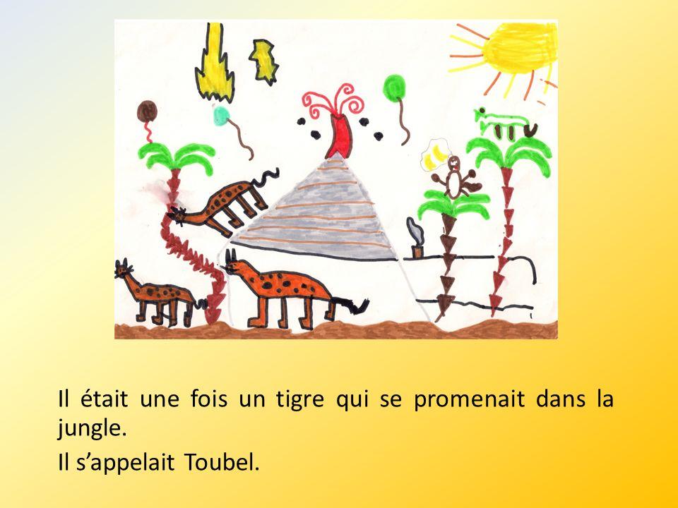 Il était une fois un tigre qui se promenait dans la jungle. Il sappelait Toubel.