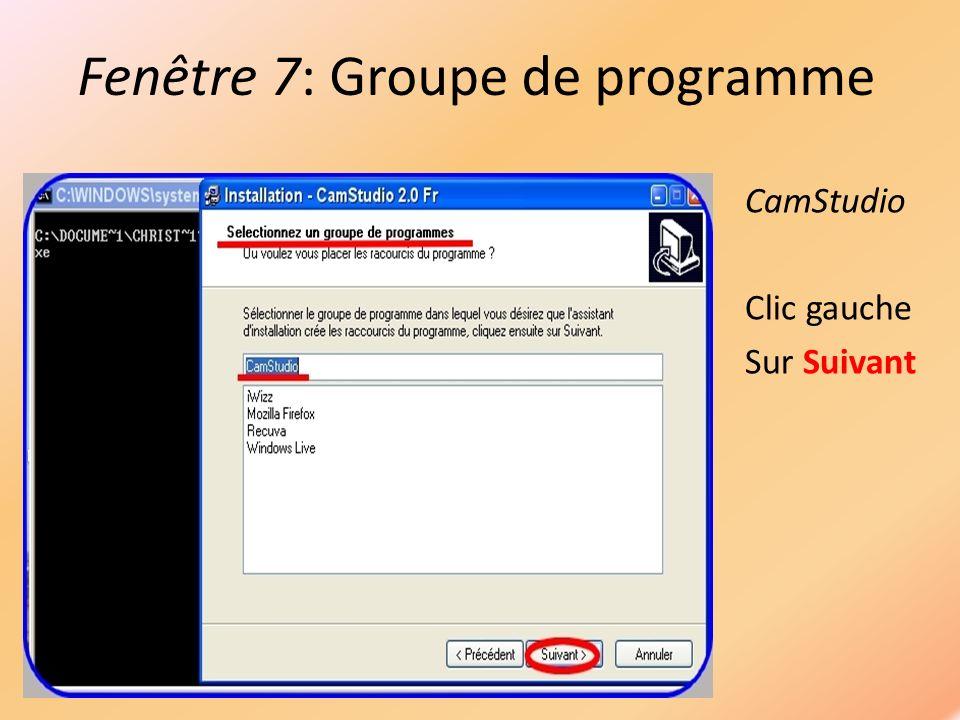 Fenêtre 9: Sélection du son ffdshow Clic gauche Sur Next