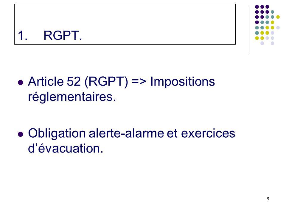 5 1.RGPT.Article 52 (RGPT) => Impositions réglementaires.