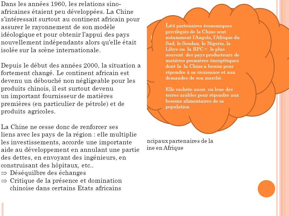 Les relations commerciales de la Chine avec lAfrique ont connu un essor important.