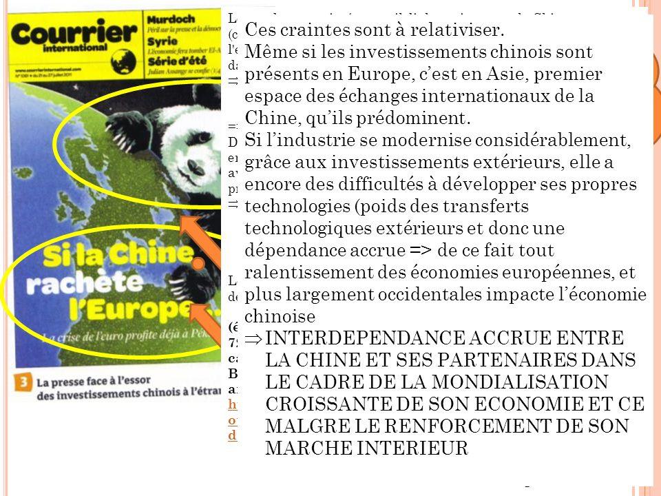 Le titre de la Une, « Si la Chine rachète lEurope », rend explicite le message et traduit le poids devenu prédominant de la Chine en Europe.