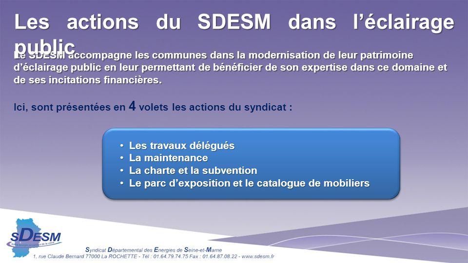 Le SDESM accompagne les communes dans la modernisation de leur patrimoine déclairage public en leur permettant de bénéficier de son expertise dans ce domaine et de ses incitations financières.