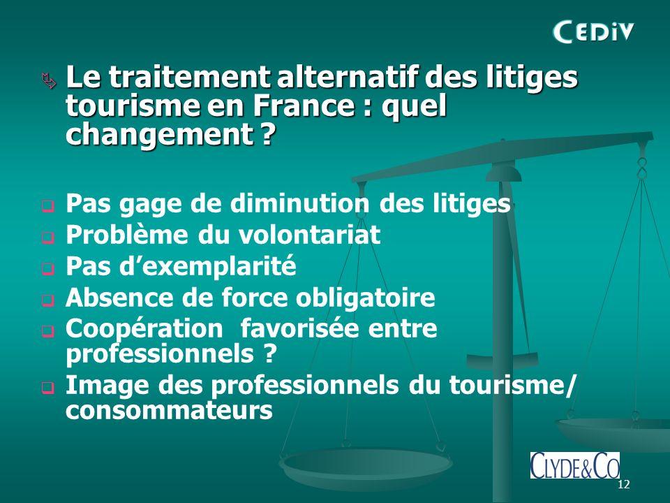12 Le traitement alternatif des litiges tourisme en France : quel changement .