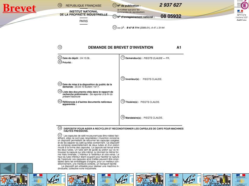 Séminaire National CIT PARIS 2011 Brevet