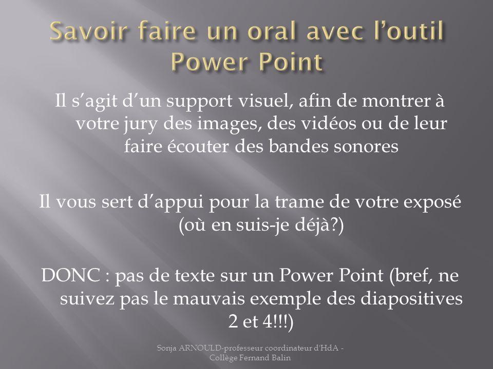 Lobjet détude et la problématique Exemple dans la diapositive suivante … Sonja ARNOULD-professeur coordinateur d HdA - Collège Fernand Balin