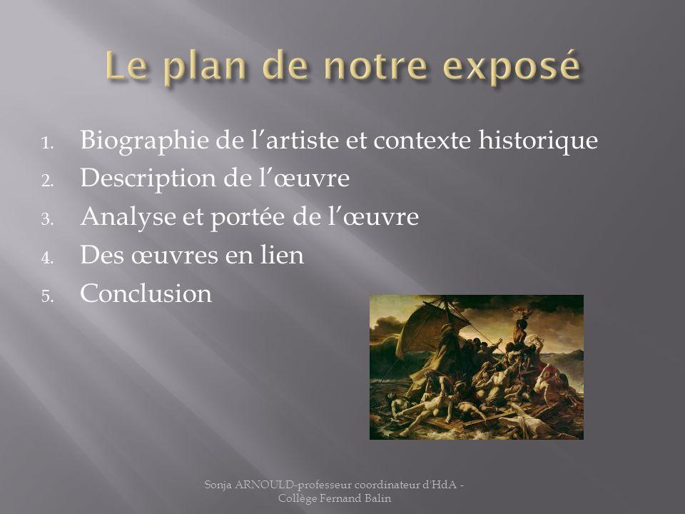 1. Biographie de lartiste et contexte historique 2. Description de lœuvre 3. Analyse et portée de lœuvre 4. Des œuvres en lien 5. Conclusion Sonja ARN