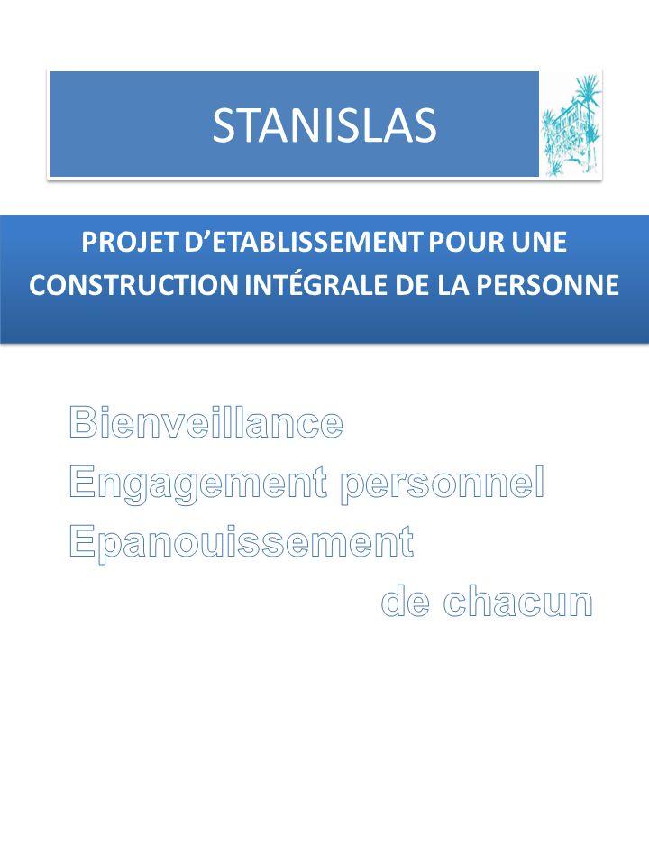 STANISLAS PROJET DETABLISSEMENT POUR UNE CONSTRUCTION INTÉGRALE DE LA PERSONNE