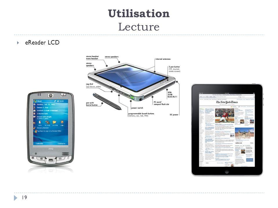 Utilisation Lecture 19 eReader LCD