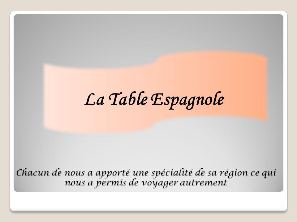 Chacun de nous a apporté une spécialité de sa région ce qui nous a permis de voyager autrement La Table Espagnole