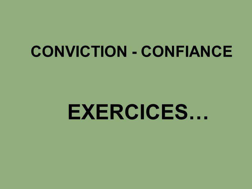 CONVICTION - CONFIANCE EXERCICES…
