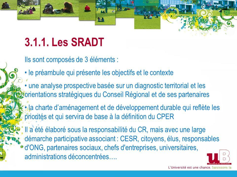 3.1.1. Les SRADT Ils sont composés de 3 éléments : le préambule qui présente les objectifs et le contexte une analyse prospective basée sur un diagnos