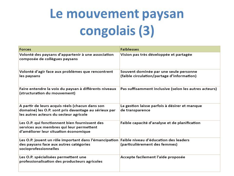 Le mouvement paysan congolais (3)