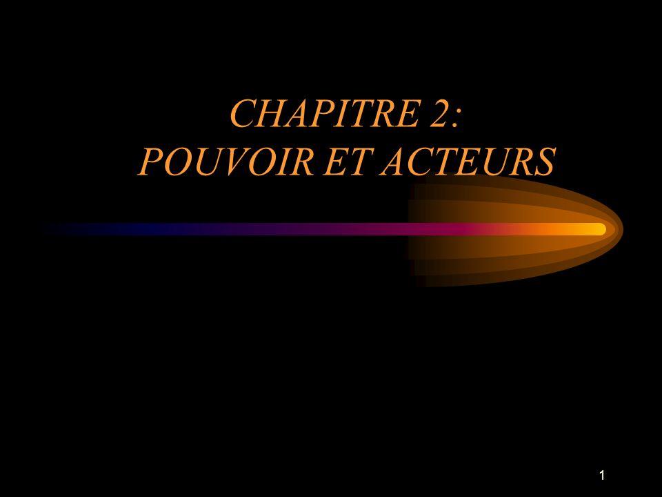 1 CHAPITRE 2: POUVOIR ET ACTEURS