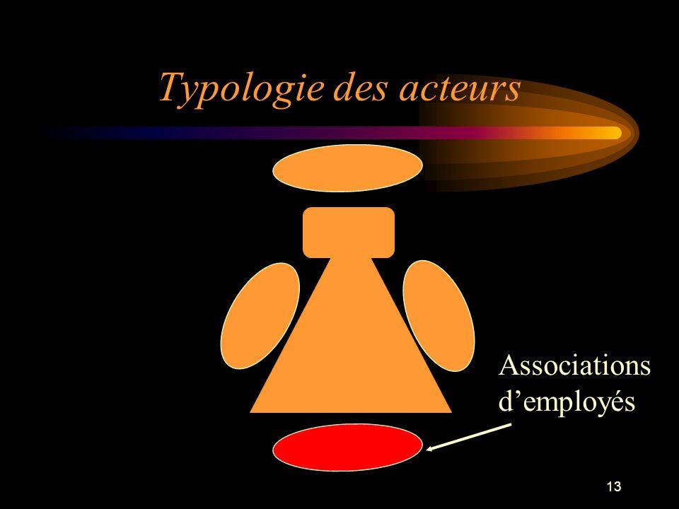 13 Typologie des acteurs Associations demployés