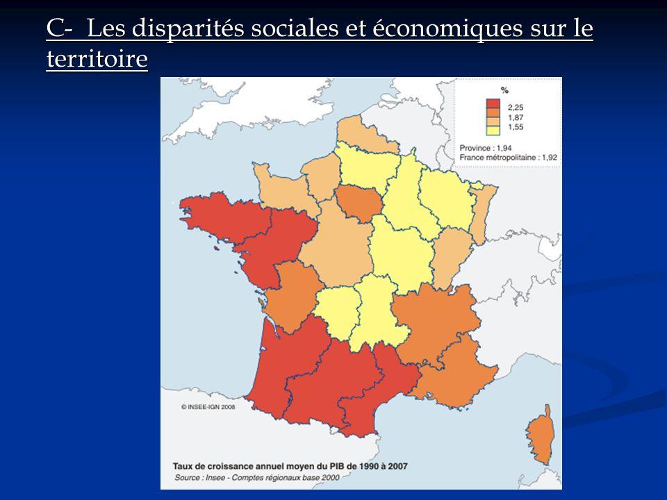 C- Les disparités sociales et économiques sur le territoire