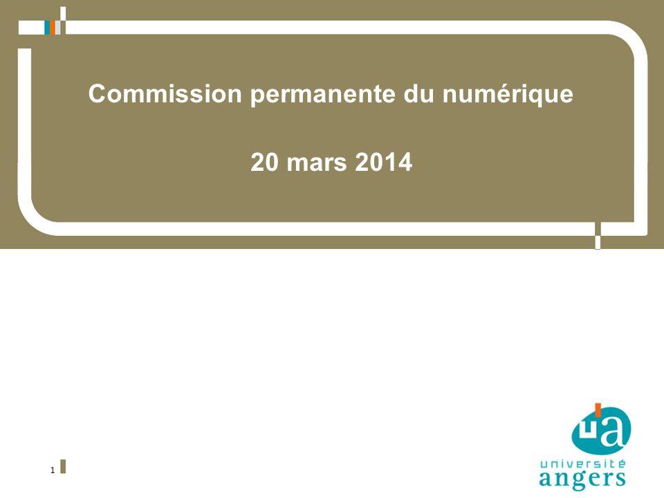1 Commission permanente du numérique 20 mars 2014