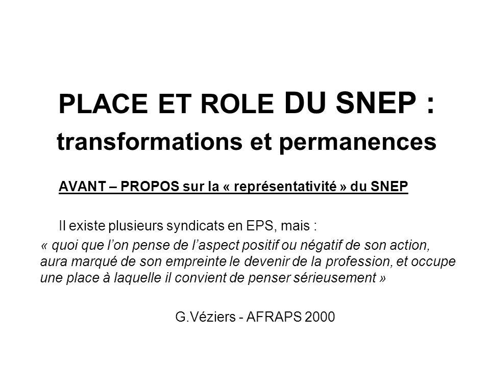 Rôle du SNEP à partir des ANNEES 90 : OPPOSITION DIDACTIQUE à lélaboration des programmes et évaluations (qui explique les hésitations dans la publications des textes)