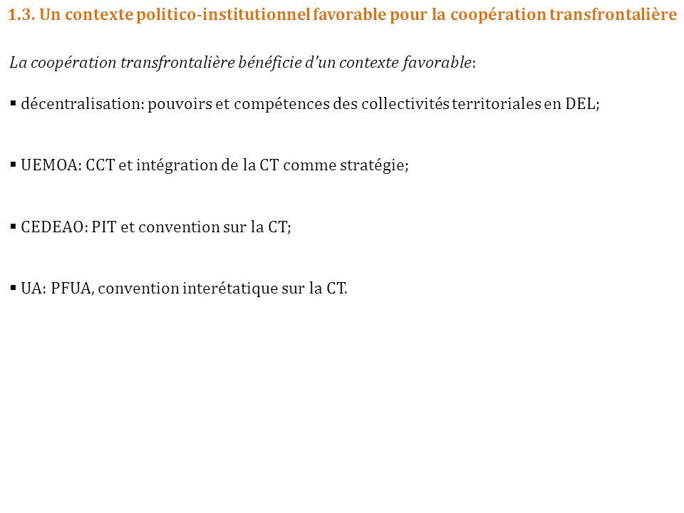 1.3. Un contexte politico-institutionnel favorable pour la coopération transfrontalière La coopération transfrontalière bénéficie dun contexte favorab