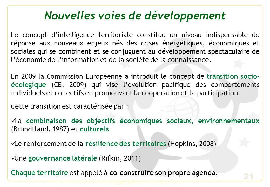 22 Gouvernance territoriale Alors que sétendait la globalisation, les limites du « welfare state » poussent les états à décentraliser une partie de leurs compétences vers les territoires confrontés aux coûts sociaux et environnementaux de la globalisation.
