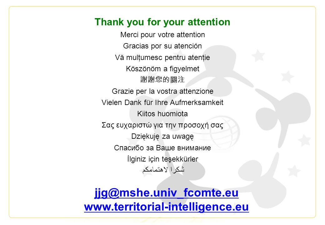 Thank you for your attention Merci pour votre attention Gracias por su atención Vă mulţumesc pentru atenţie Köszönöm a figyelmet Grazie per la vostra