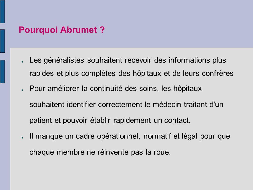 Pourquoi Abrumet .