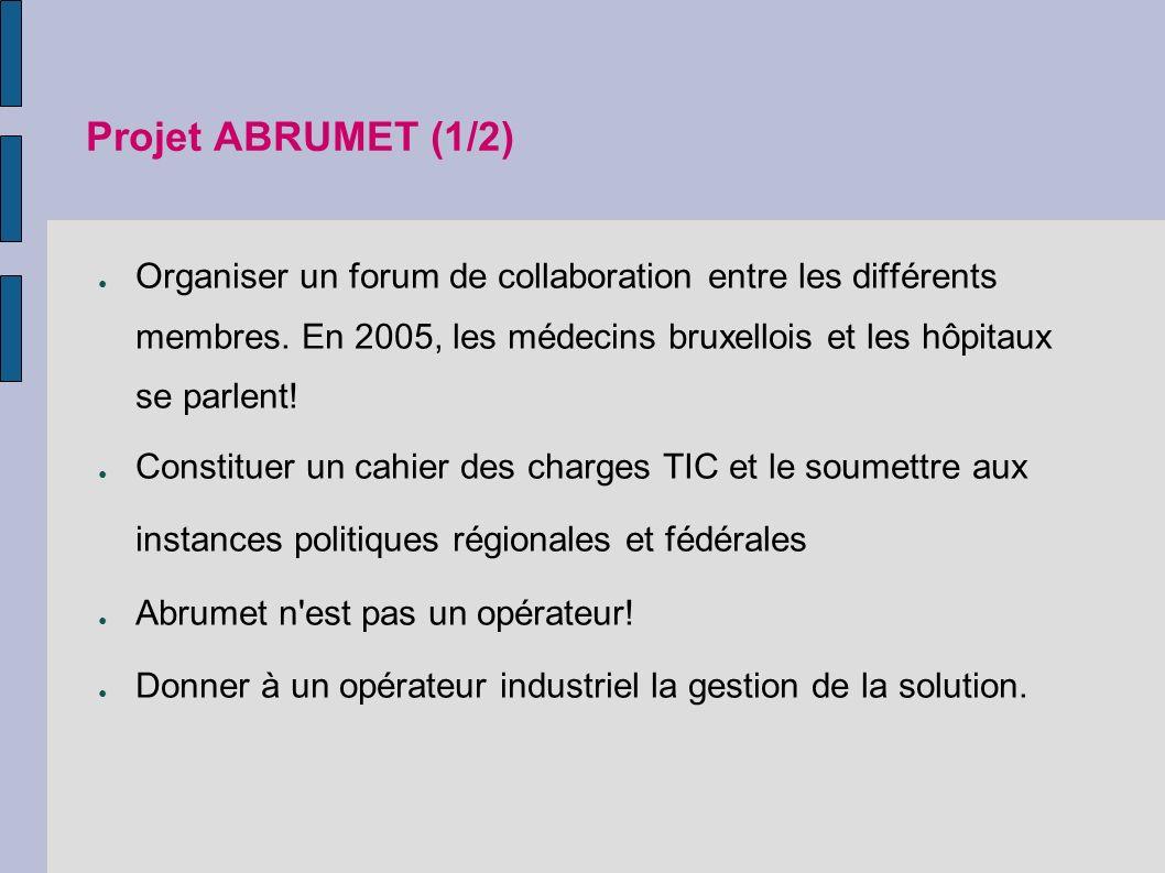 Projet ABRUMET (1/2) Organiser un forum de collaboration entre les différents membres.
