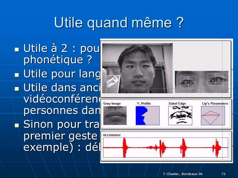 T Chanier, Bordeaux 06 71 Utile quand même . Utile à 2 : pour lien social ou travail phonétique .