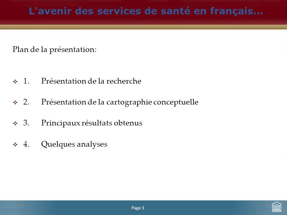 Plan de la présentation: 1.Présentation de la recherche 2.Présentation de la cartographie conceptuelle 3.
