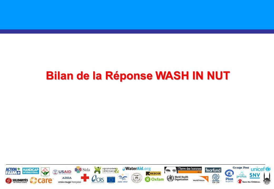 Bilan de la Réponse WASH IN NUT Groupe Pivot ADDA
