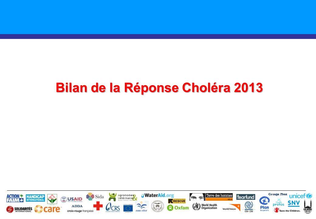 Bilan de la Réponse Choléra 2013 Groupe Pivot ADDA