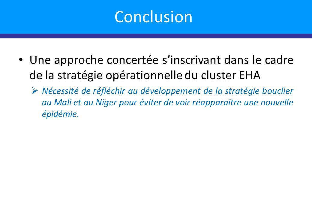 Une approche concertée sinscrivant dans le cadre de la stratégie opérationnelle du cluster EHA Nécessité de réfléchir au développement de la stratégie