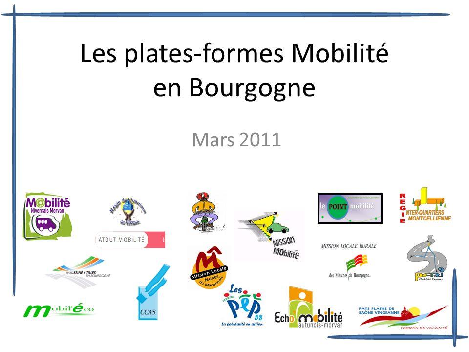 Les plates-formes Mobilité en Bourgogne Mars 2011