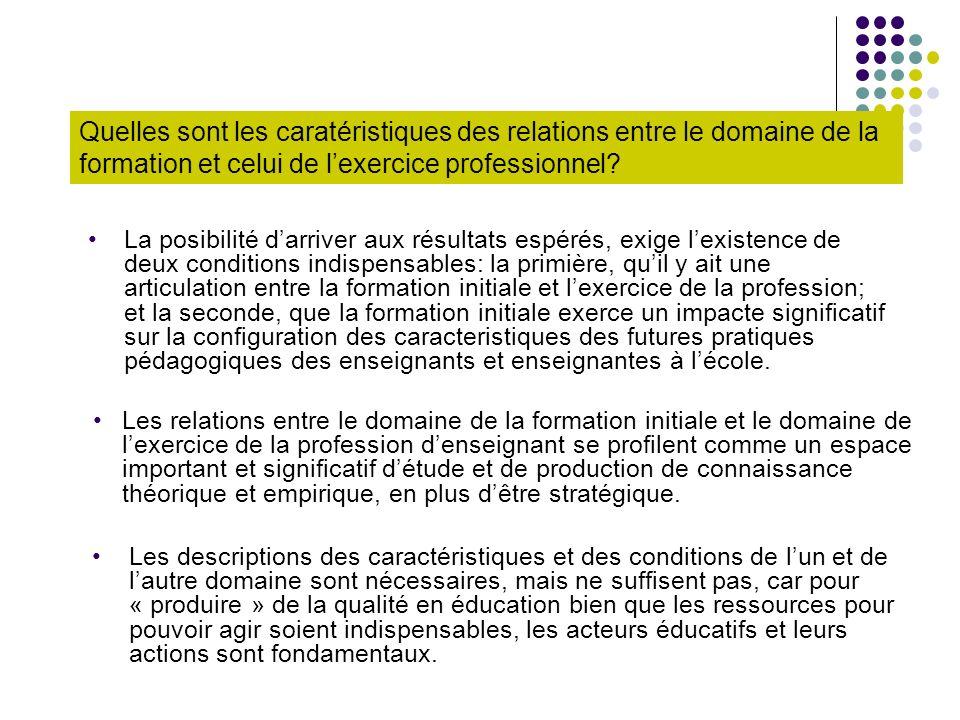 Questions de recherche Quelles sont les caracteristiques des rationalités du chamsps de la formation initial et du champs de lexercice du travail.