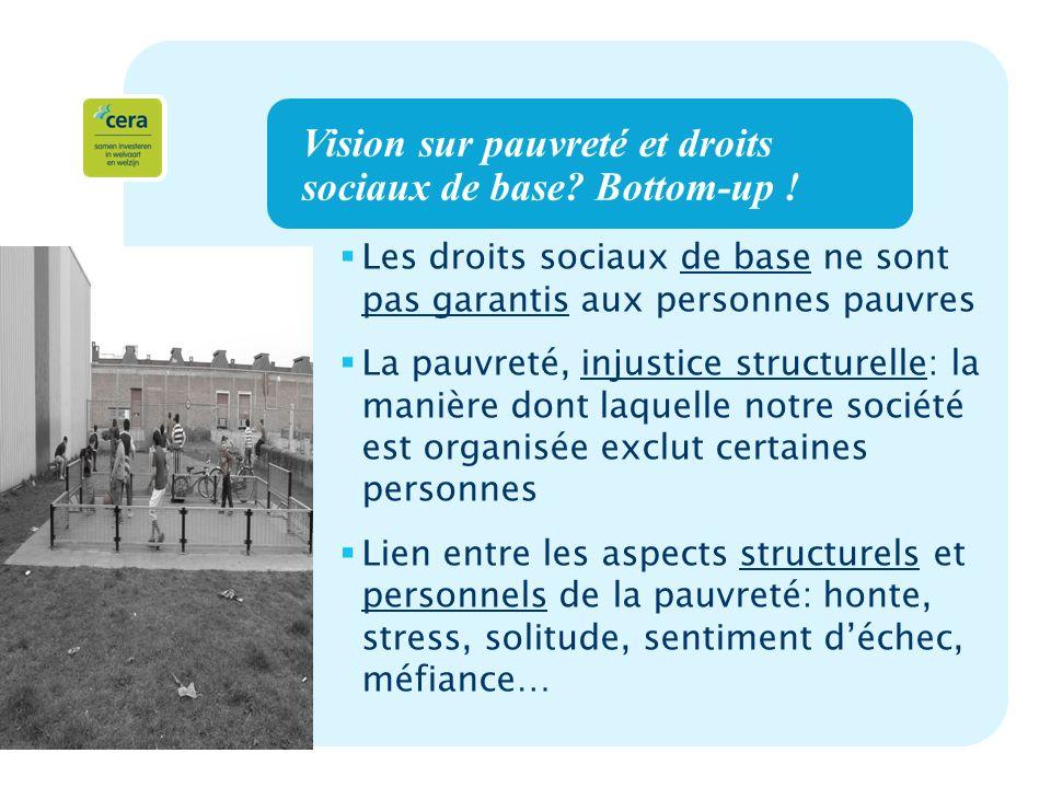 5 Vision sur pauvreté et droits sociaux de base. Bottom-up .