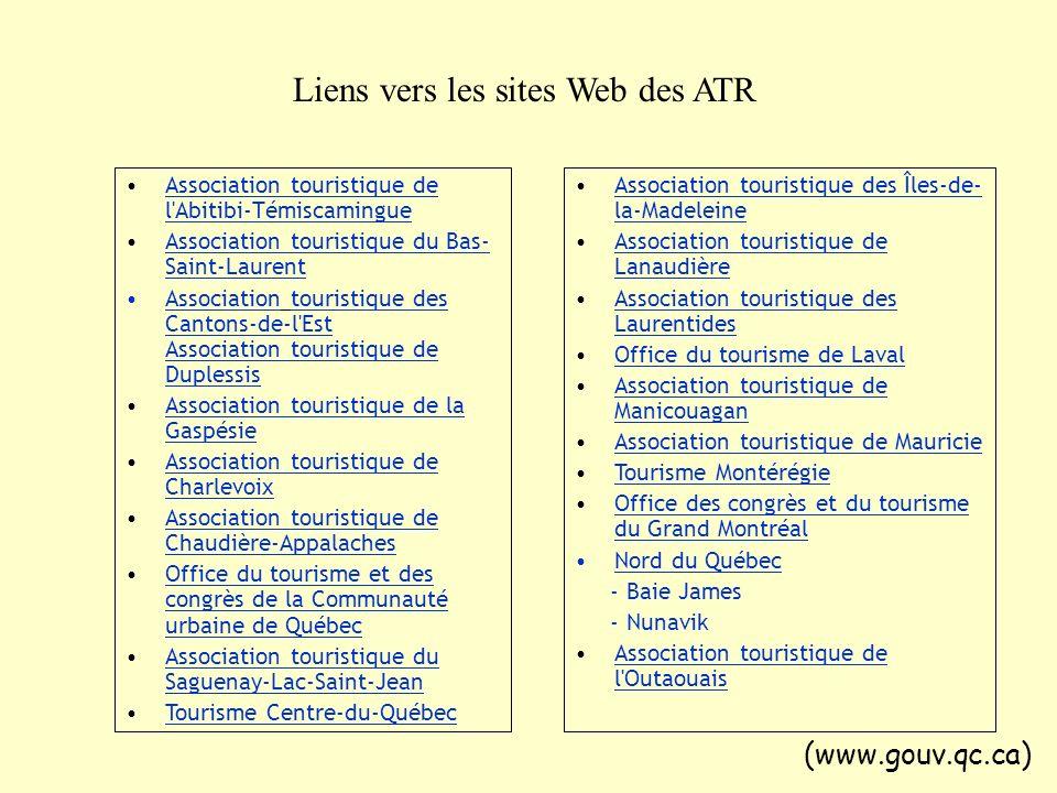 Association touristique de l'Abitibi-TémiscamingueAssociation touristique de l'Abitibi-Témiscamingue Association touristique du Bas- Saint-LaurentAsso