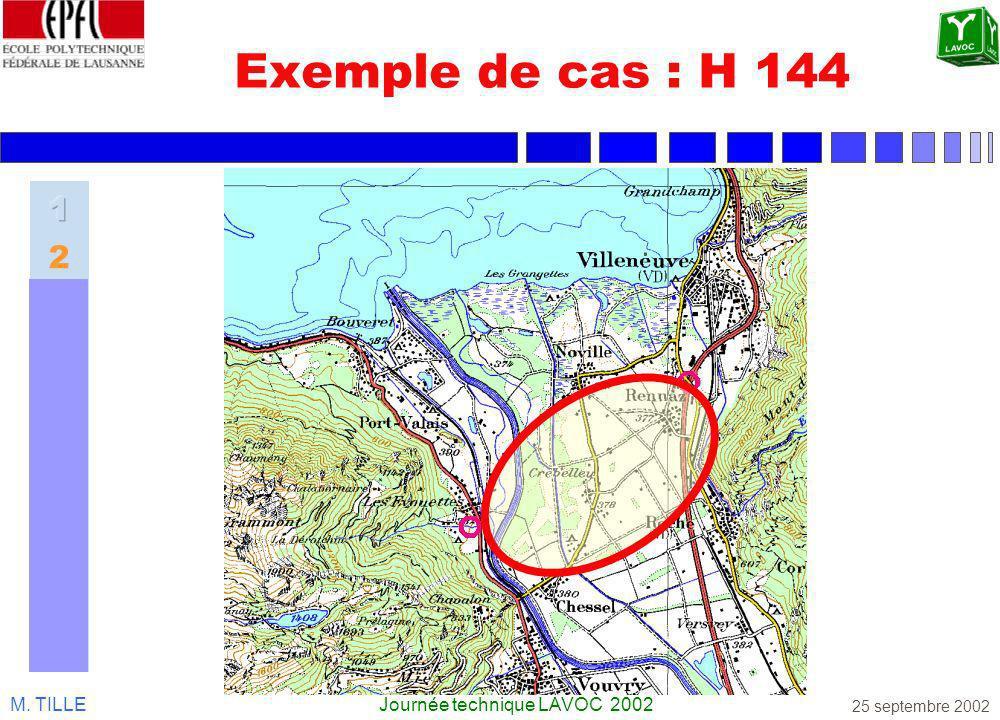 M. TILLEJournée technique LAVOC 2002 25 septembre 2002 Exemple de cas : H 144
