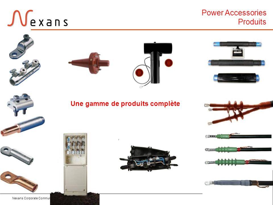 Nexans Corporate Communication Dept. – March 2011 12 Power Accessories Produits Une gamme de produits complète