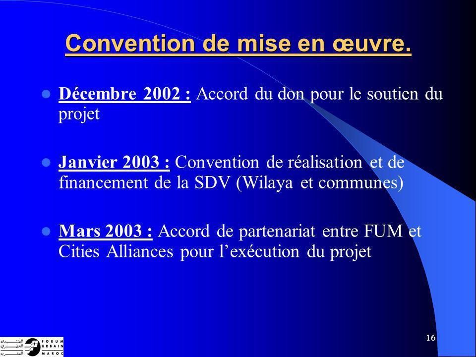 16 Convention de mise en œuvre.