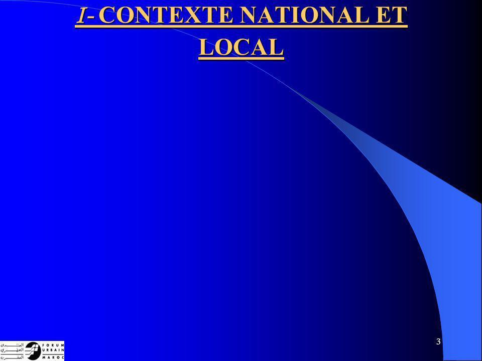 3 I- CONTEXTE NATIONAL ET LOCAL
