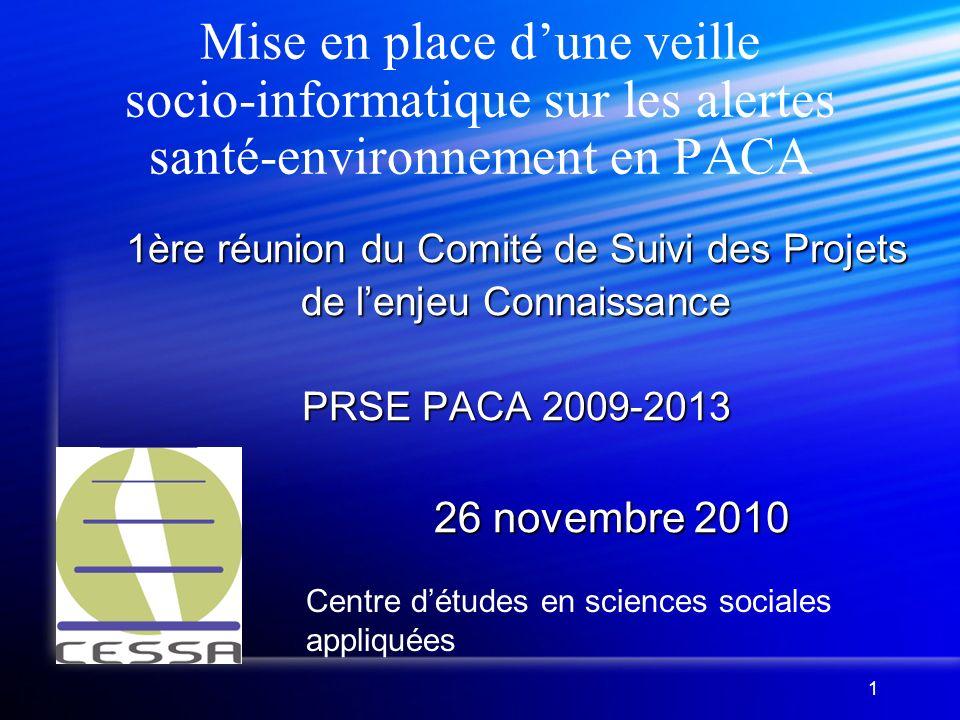 2 Présentation du CESSA Le CESSA, laboratoire de recherche et bureau détudes associatif, travaille sur les procédures participatives (observation de débat public, AMO).