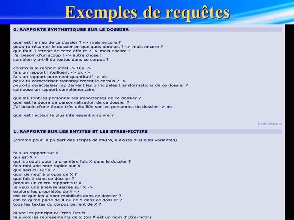 12 Exemples de requêtes