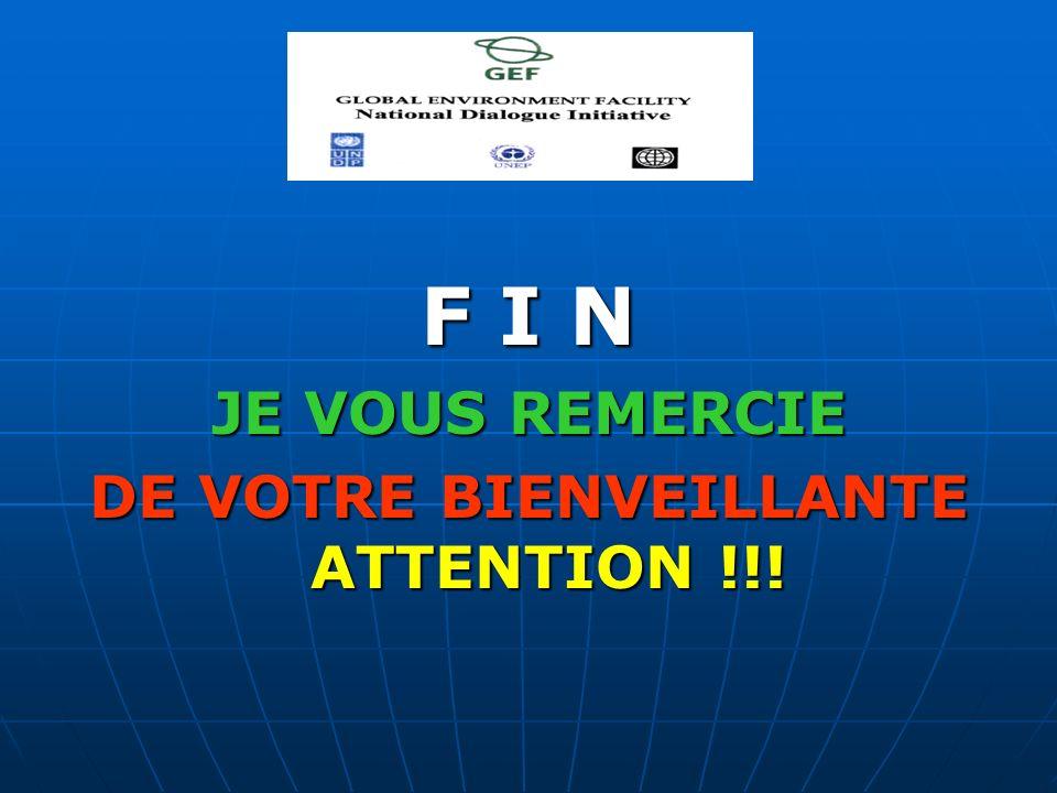 F I N JE VOUS REMERCIE DE VOTRE BIENVEILLANTE ATTENTION !!!