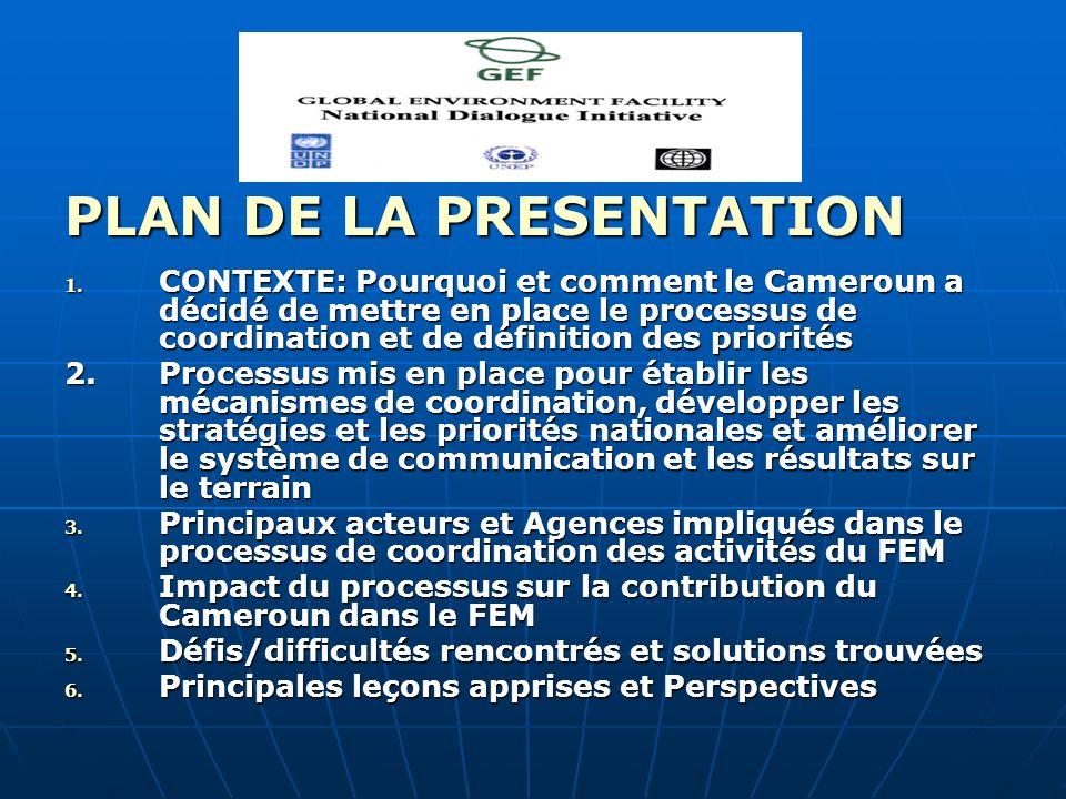 PLAN DE LA PRESENTATION 1.