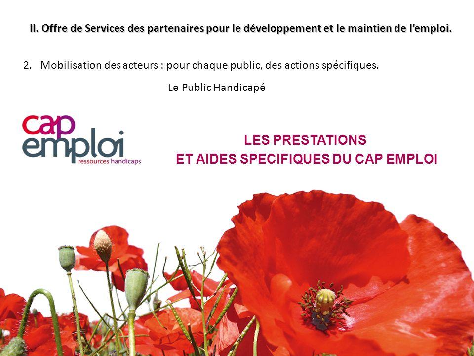 II. Offre de Services des partenaires pour le développement et le maintien de lemploi. 2. Mobilisation des acteurs : pour chaque public, des actions s