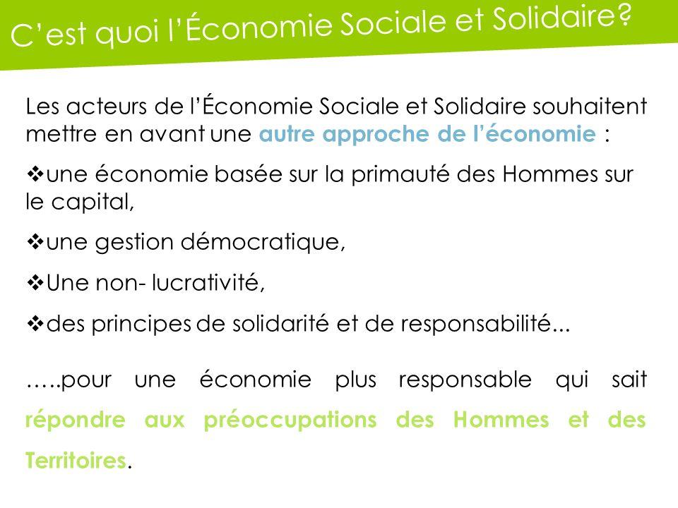 Cest quoi lÉconomie Sociale et Solidaire.