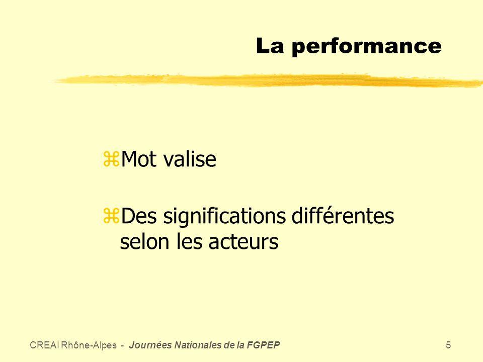 CREAI Rhône-Alpes - Journées Nationales de la FGPEP4 Le projet associatif dans sa dimension politique et stratégique : contractualisation externe avec la puissance publique.