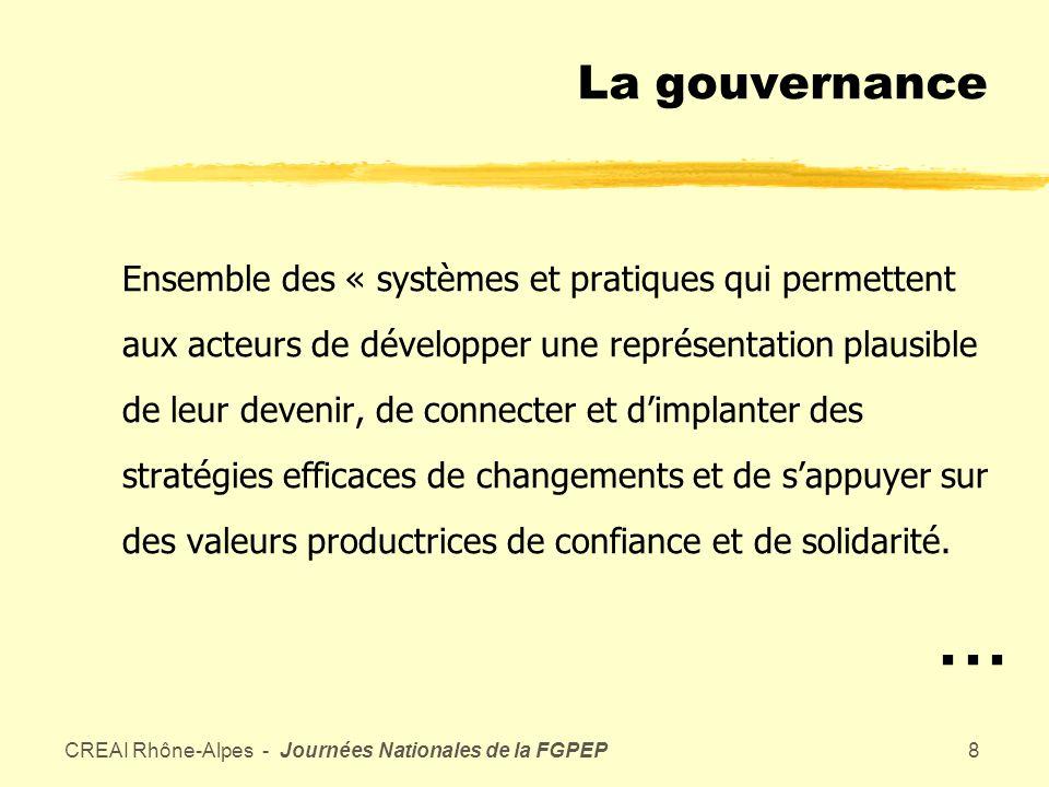 CREAI Rhône-Alpes - Journées Nationales de la FGPEP7 Les leviers de la loi 2002-2 zTarification (convergence) zPlanification zProjet détablissement et autorisation zEvaluation interne et externe zCoopérations zContractualisation