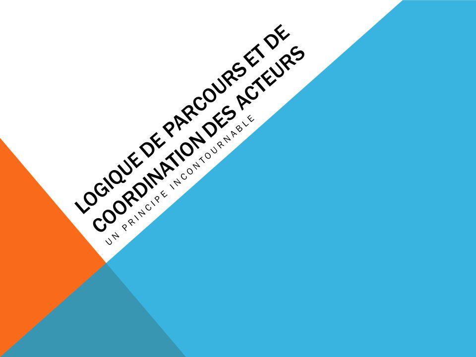 LOGIQUE DE PARCOURS ET DE COORDINATION DES ACTEURS UN PRINCIPE INCONTOURNABLE