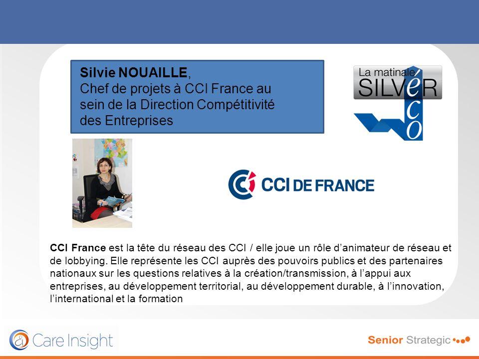 Silvie NOUAILLE, Chef de projets à CCI France au sein de la Direction Compétitivité des Entreprises CCI France est la tête du réseau des CCI / elle jo
