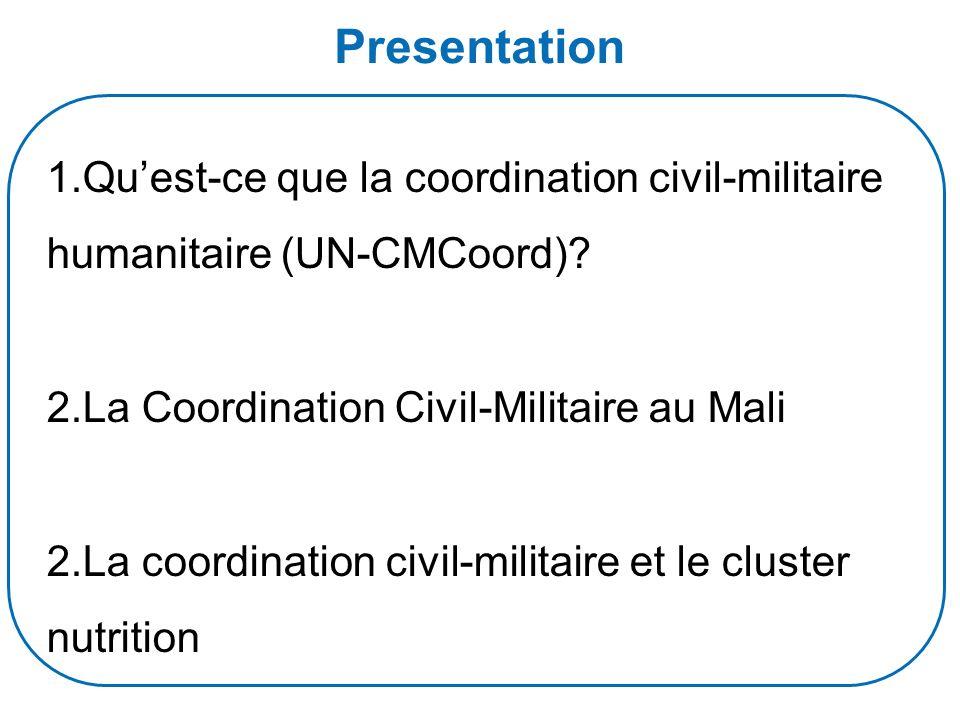 Presentation 1.Quest-ce que la coordination civil-militaire humanitaire (UN-CMCoord).